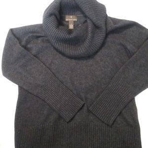 Gray turtle cowl neck sweater XL